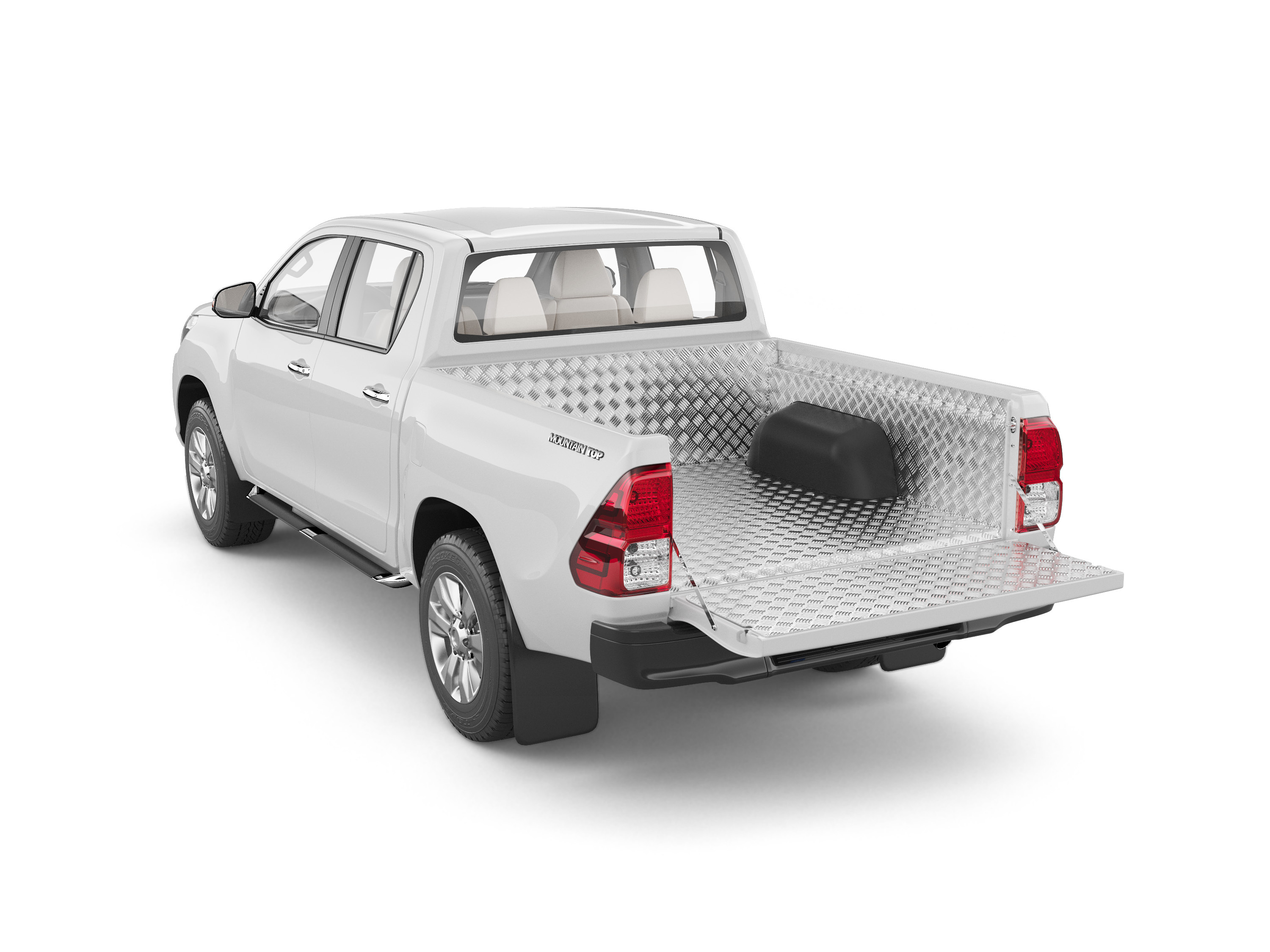 Aluminium bedliner - under rail - one and half cabin - Toyota Hilux (2015 -)